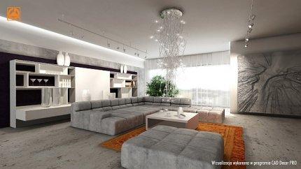 Salon, wizualizacja w programie CAD Decor PRO