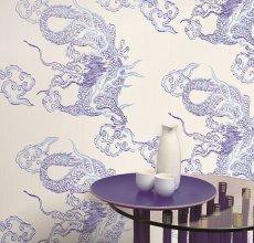 Salon w stylu orientalnym, tapeta Foulard