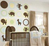 Pokój dziecka, naklejki ze zwierzętami
