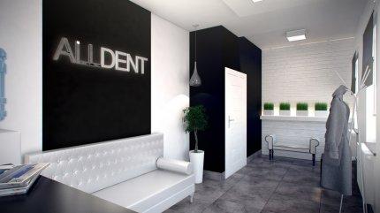 Gabinet dentystyczny, recepcja z poczekalnią