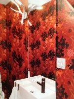 przykładowa tapeta w łazience